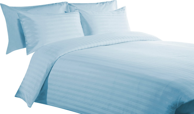 "400 TC 15"" Deep Pocket Sheet Set with 4 Pillowcase Sky Blue, Full XL"