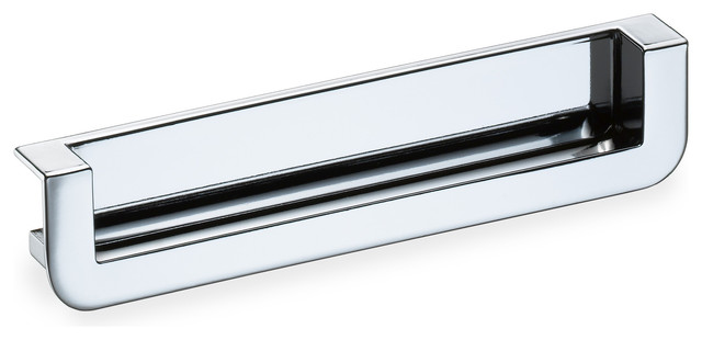 Schwinn 2518 Recessed Edge Pull, Polished Chrome - Cabinet And Drawer Handle Pulls - by Schwinn