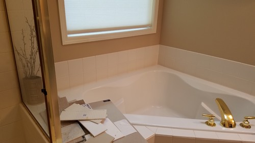 Help! Replacing corner tub: freestanding, alcove soaking, or drop-in?