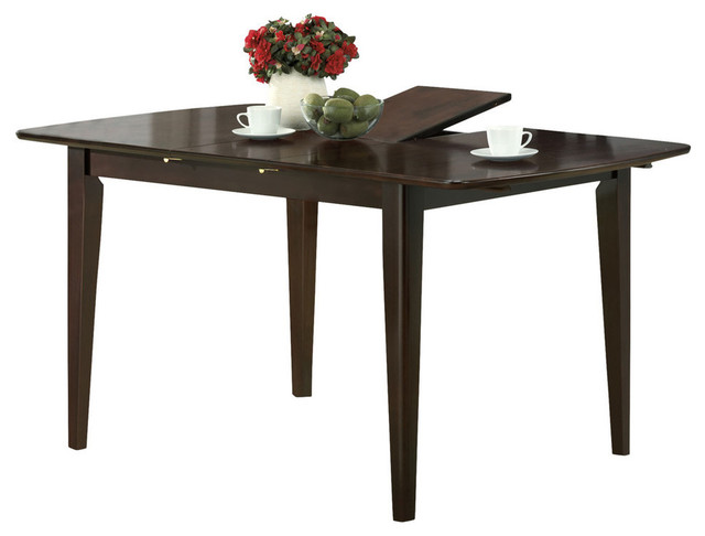 Dining Table 36 X48 X 60 Cappuccino With A Leaf Transitional Dining Tables By Ami Ventures Inc