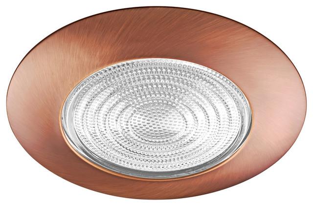 "Fresnel Glass Restoration Bath Light: NICOR 17502BZ 6"" Bronze Recessed Lexan Shower Trim With"