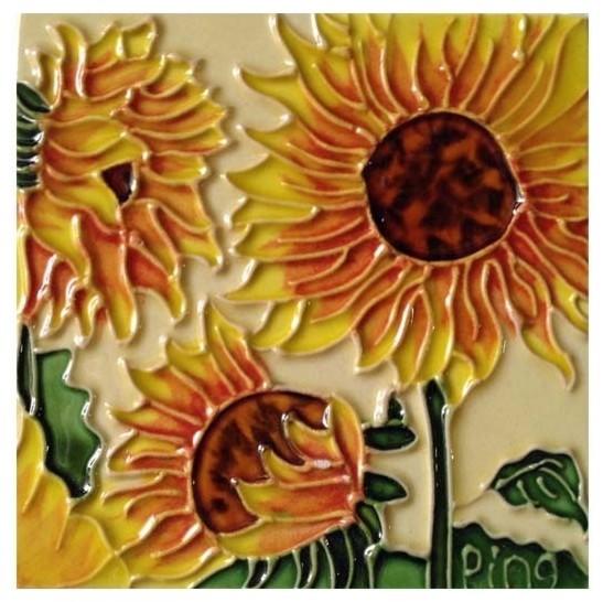 3 Sunflowers Tile