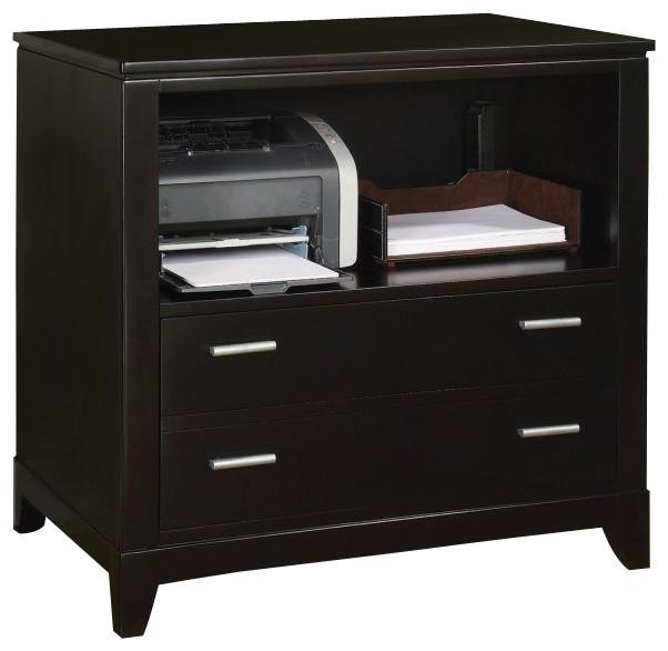 Wynwood Palisade Printer Filing Cabinet In Dark Sable
