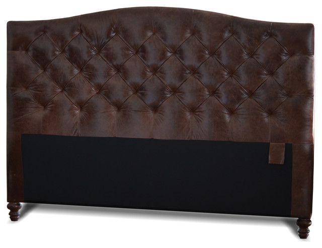 King size genuine leather diamond tufted headboard for Leather headboard designs