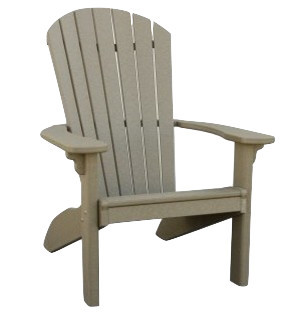 Delicieux Recycled Plastic Adirondack Chair, White