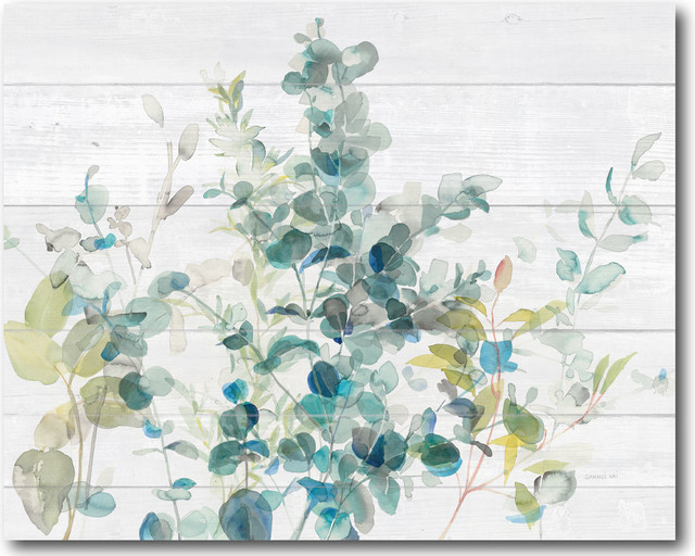 Courtside Market Eucalyptus I On Shiplap Gallery Wrapped Canvas Wall Art 16x20 Contemporary Prints And Posters By Courtside Market Llc