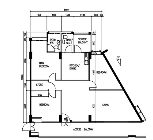 Totally Lost With The Triangle Shaped Living And Bedroom - Triangle bedroom design