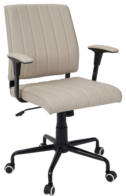 contemporary office chair beige with black metal