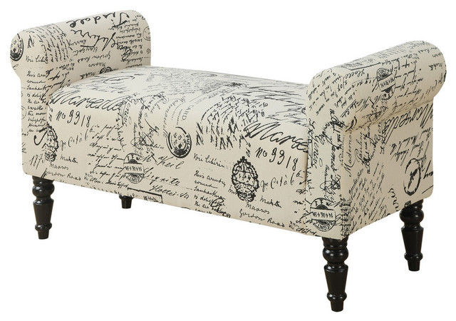 Swell Bench Traditional Style Vintage French Fabric Creativecarmelina Interior Chair Design Creativecarmelinacom
