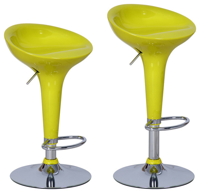 Adeco Bensbyn Modern Bar Stools Set Of 2 Contemporary