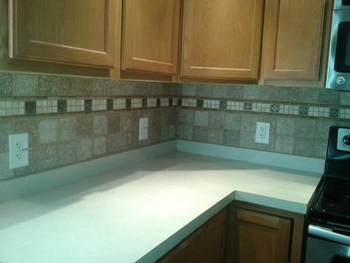 What color granite countertop to match kitchen and backsplash?