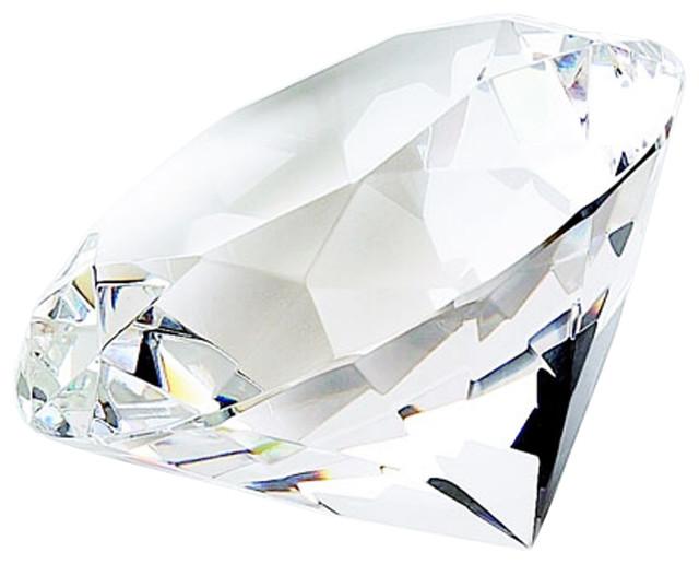 Elegance Diamond Shaped Paperweight
