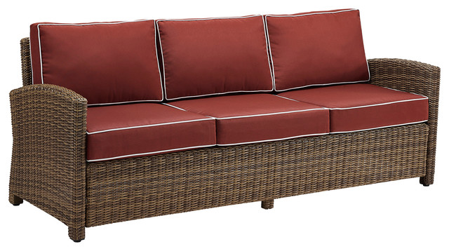 Emery Outdoor Sofa, Red.