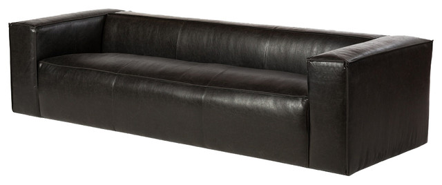 Magnificent Lenyx 110 Leather Sofa Distressed Black Caraccident5 Cool Chair Designs And Ideas Caraccident5Info