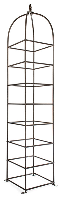 Trellis Large Obelisk For Climbing Garden Plants, Iron Metal Yard Art.