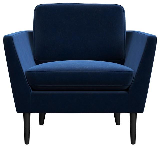 Jacinth Velvet Armchair Midcentury Armchairs And