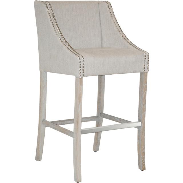Classic Home Classic Home Cascade Putty Linen Barstool