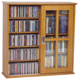 MS-350 Wall Mounted Sliding Door Mission Style Media Storage - Traditional - Media Cabinets - by ...