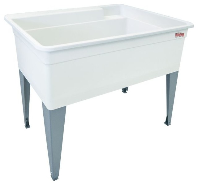 "Mustee Laundry Tub, 17.5""."
