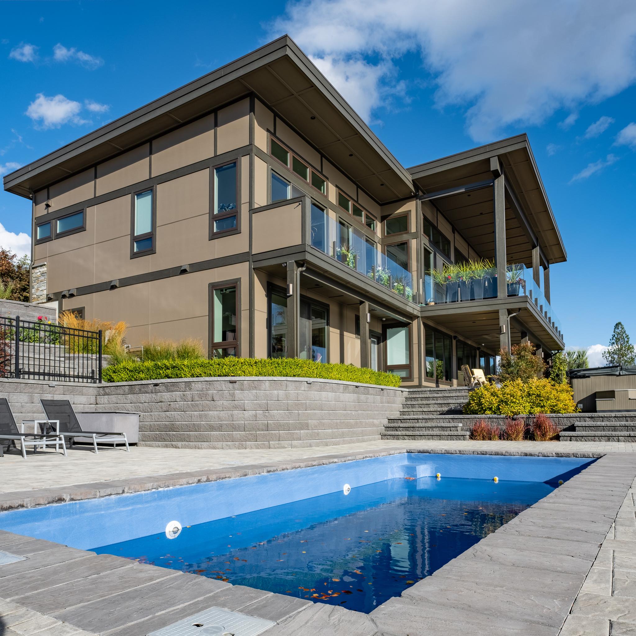Hillside Okanagan Lake View Home