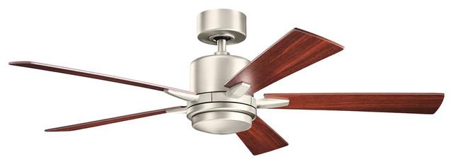 Lucian 1-Light Ceiling Fan, Brushed Nickel/silver.