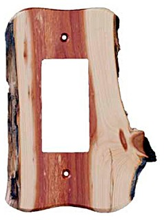 Rustic 1 Rocker Unfinished, Juniper - Rustic - Switch Plates And Outlet Covers - by Sierra ...