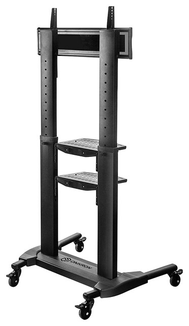 Onkron Universal Mobile Tv Stand With Shelves Cart On Wheels For 40 75 Inc