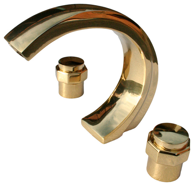 Tub Faucet Heavy Brass C-Style Centerset Deck Mount by Renovator's Supply
