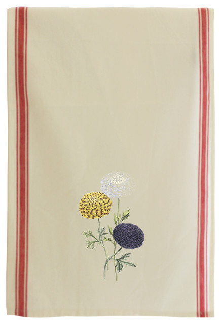 8bee207b8d Ranunculus Beautiful Vintage Flowers Style 2 Cotton Kitchen Towel -  Traditional - Dish Towels - by Style In Print