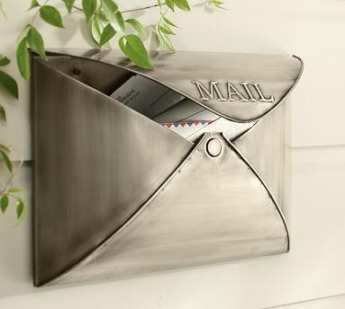 Envelope Mailbox, Vintage Brass finish