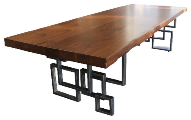 Modern Walnut Dining Table Dining Tables by Stix and stone