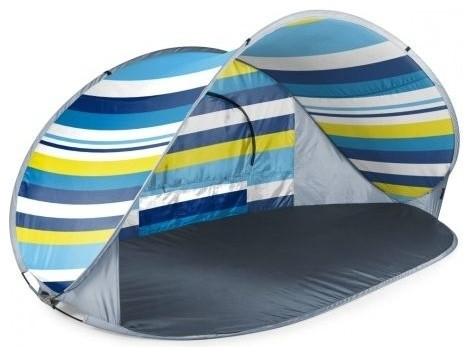 Picnic Time Manta Sun Shelter, Beach Stripes.