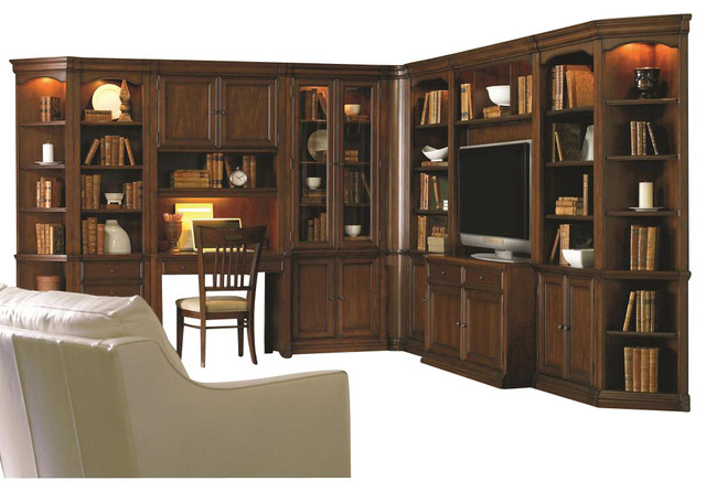 Hooker Furniture Cherry Creek Wall Curio Cabinet - Traditional - Bookcases - by Seldens Furniture