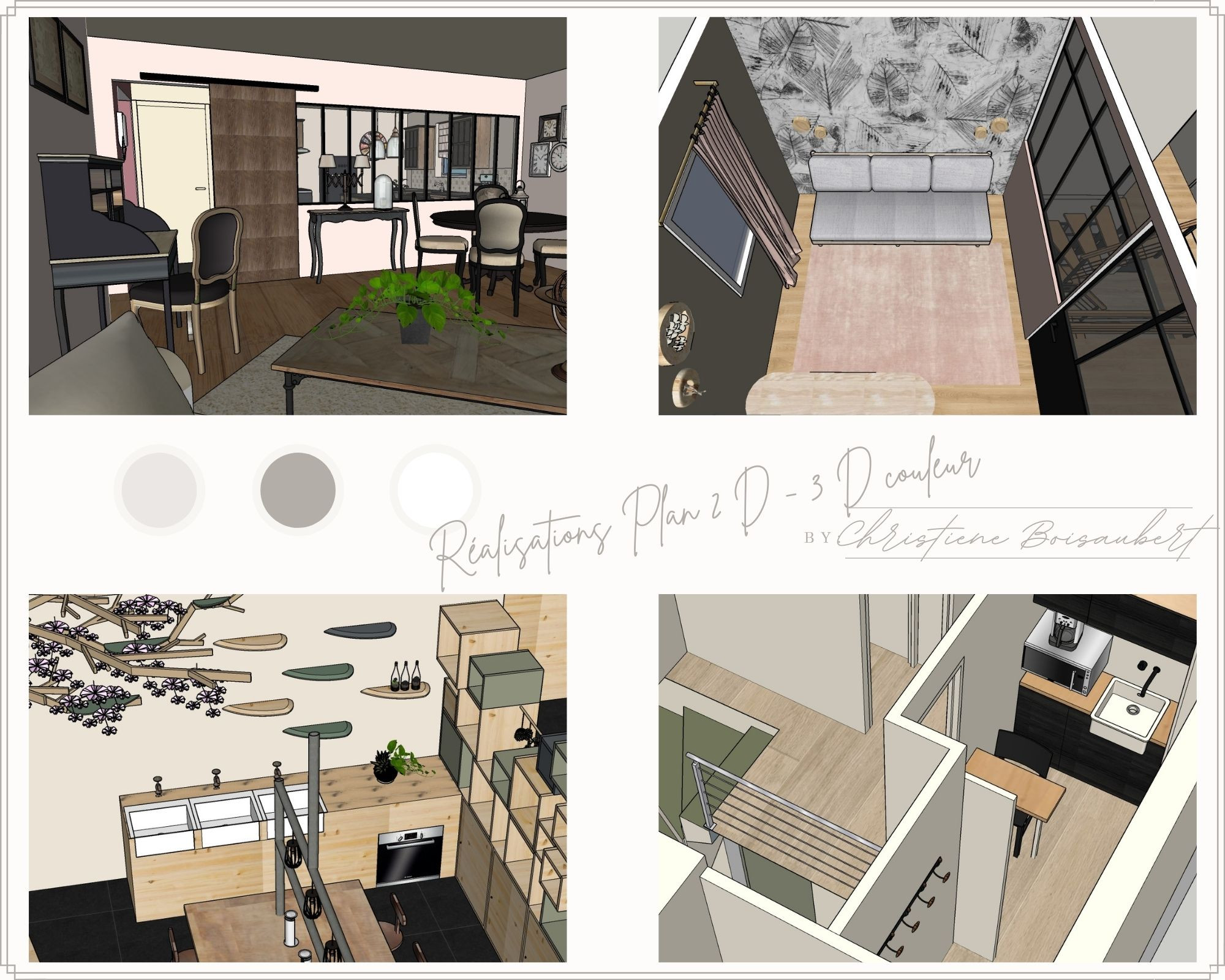 Plan 2D / 3D couleur