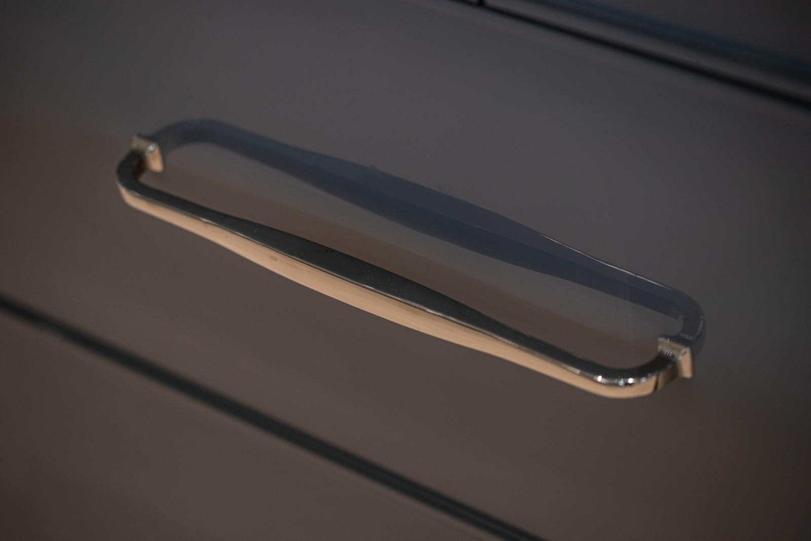 polished nickel handles