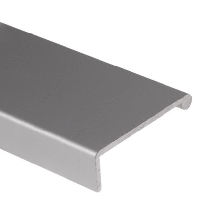 Richelieu Aluminium Drawer Pull Handle Panel, Aluminum, 0.75 Inch  Contemporary Cabinet And