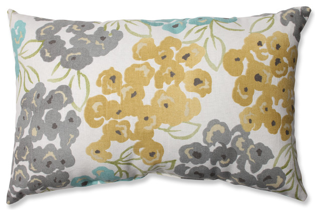 Luxury Floral Pool Rectangular Throw Pillow.