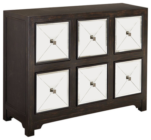 Contemporary Elegant Wooden Accent Cabinet,  Brown