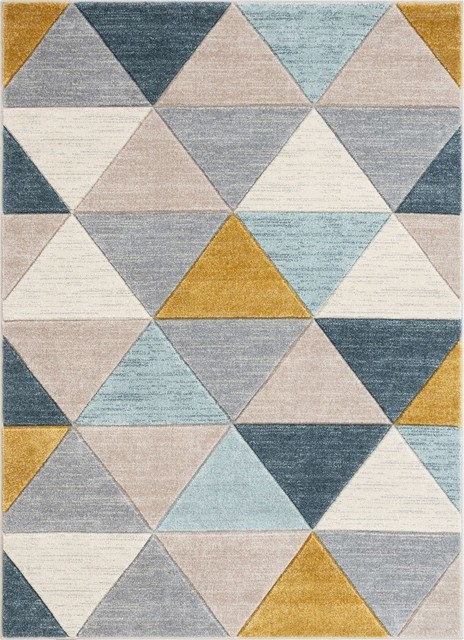 Well Woven Ruby Rita Midcentury Modern Geometric Multi Area Rug Contemporary Area Rugs By Well Woven Houzz