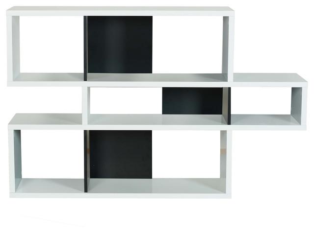 London Composition 2010-001 098020-LONDON1 Shelf, Pure White/Pure Black