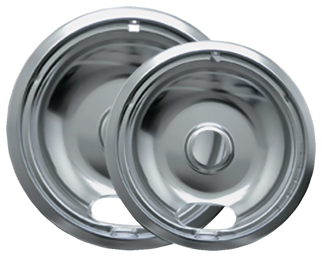 Range Kleen Chrome Drip Pans, 2 Pack, Style A.