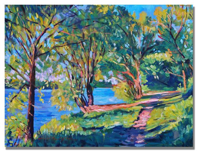 &x27;summers Lake&x27; Canvas Art By David Lloyd Glover.
