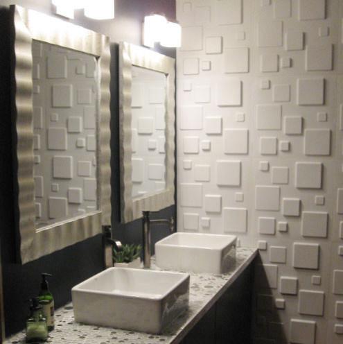 3D Wall Panels, Squares Modern Wall Panels