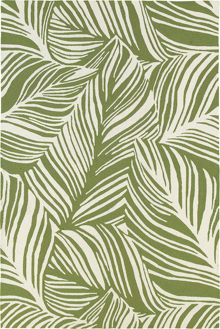 Atrium 51104 Green Ivory Tropical Area Rugs By