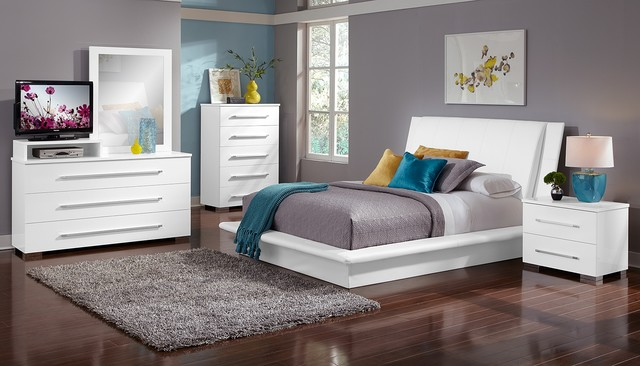 The Dimora White Bedroom Collection Modern Bedroom Products Awesome Design