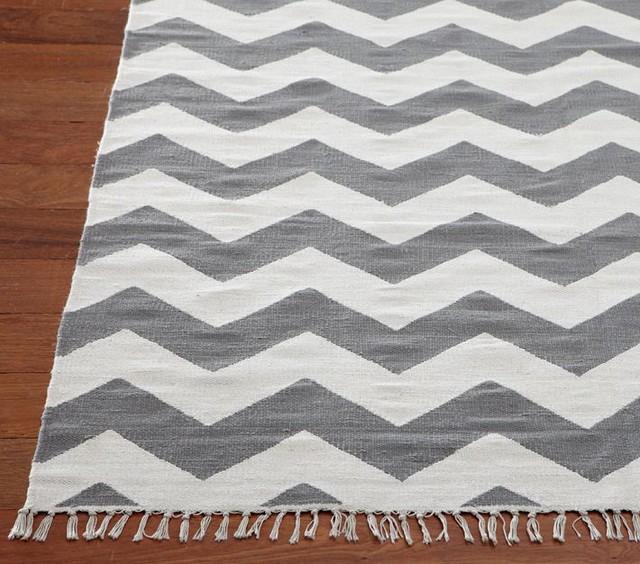 chevron rug gray modern rugs by pottery barn