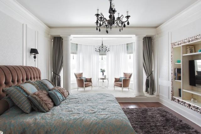 Элегантная классика transitional-bedroom