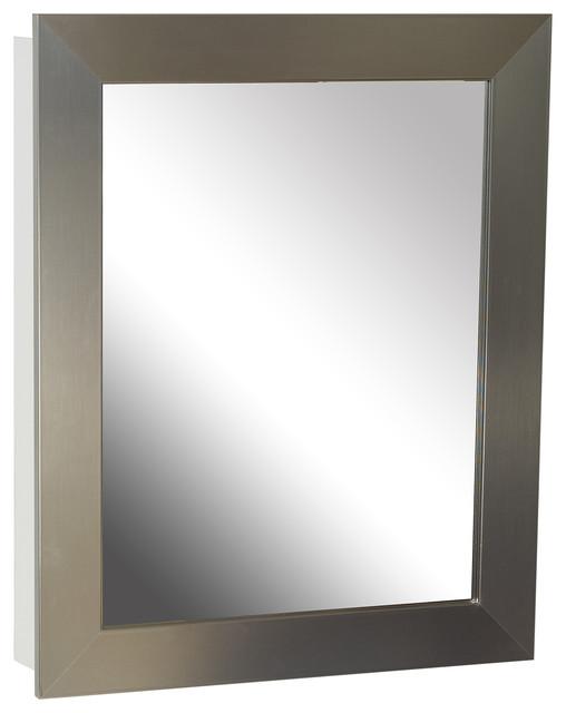 Shop Houzz   Zenith Nickel Framed Medicine Cabinet - Medicine Cabinets