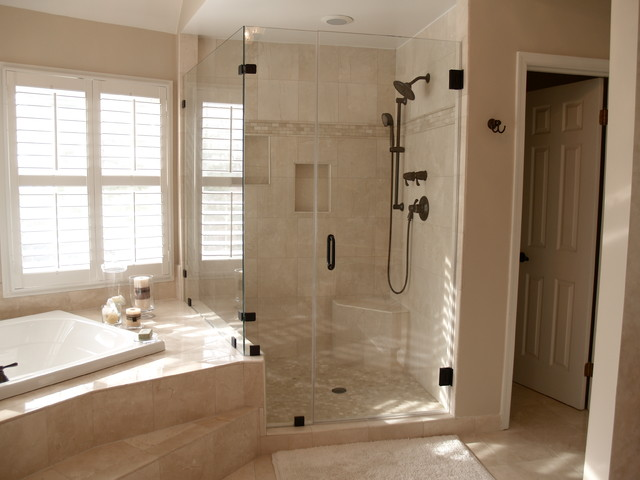 frameless shower doors traditional
