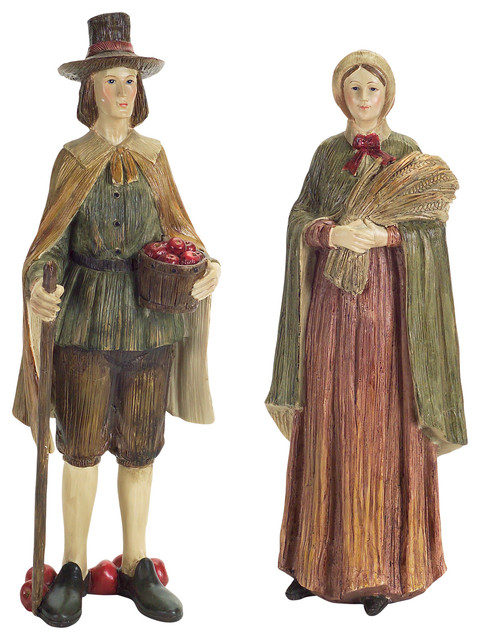 Thanksgiving Pilgrim, Set Of 2.